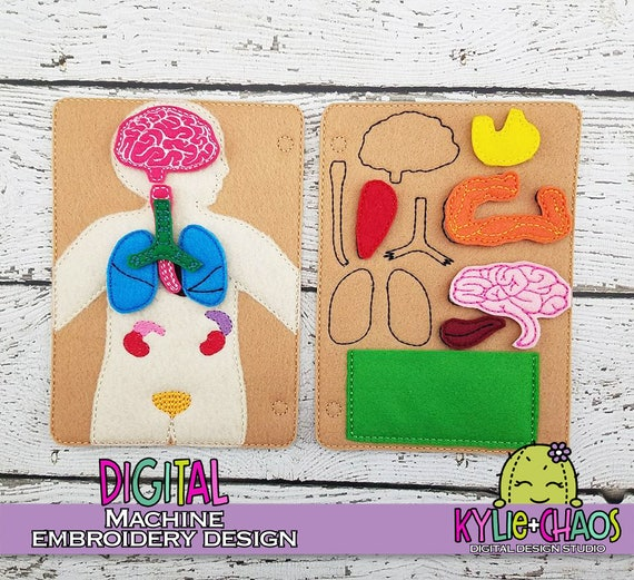 Anatomy Quiet Book Busy Book Playset Machine Embroidery Design Etsy