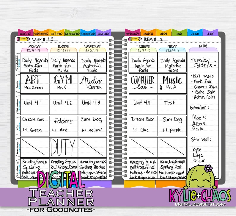 Digital Teacher Planner for GoodNotes on IPhone and IPad ...