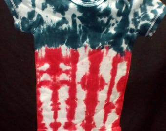 Hand Dyed Tie dye 18 month onesie American flag Carter's brand