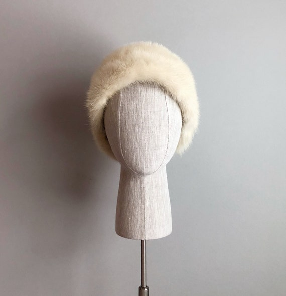 Vintage 60s Blonde Mink Hat
