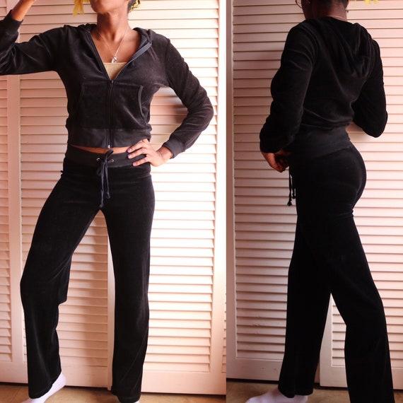 Vintage 00s Black Sweatsuit