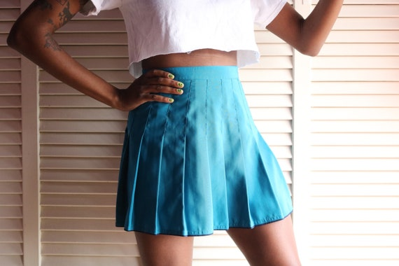 Vintage Teal Tennis Skirt