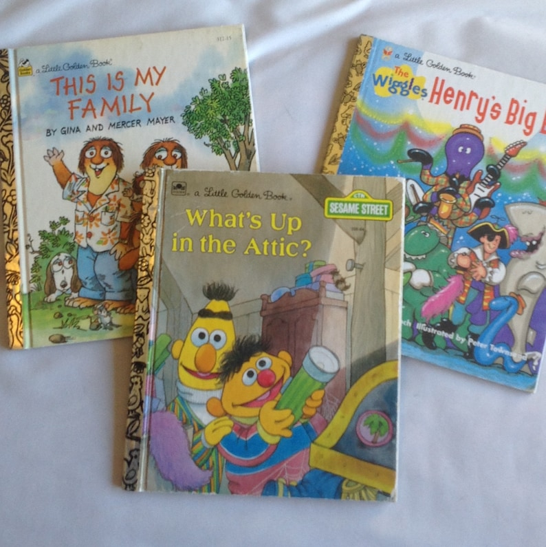 Little Golden Books - Set of Three/ Sesame Street/The Wiggles/Printed in  USA/Children's Books
