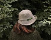 Women's Abraham Moon Tweed Vintage Style Warm Hat, Winter Hat, tweed Hat, Velvet Hat, Autumn Hat, Cotton Velvet