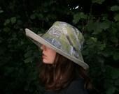 Women's large brimmed sun hat, linen sun hat, packable hat, travel hat, sun hat, sun protection hat, mushroom hat, linen hat