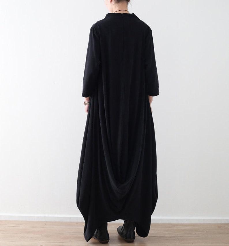 26ce19708ff Womens Loose Fitting Irregular Hem Cotton Linen Robe Dress