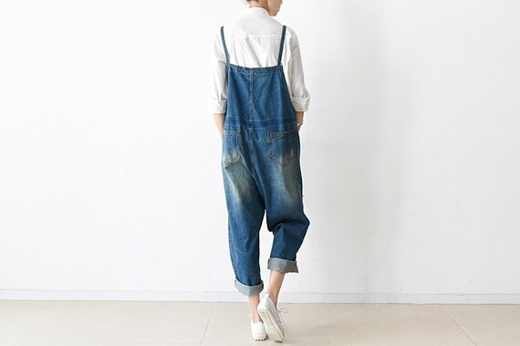 Cotton Casual Jumpsuits Lady Pockets Overalls For Pants Casual Overalls Jumpsuits Retro Pants Loose Loose Pants With Womens Pants Fitting qxpHpF