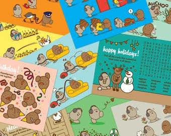 Eggman Comics Set of 10 Postcards