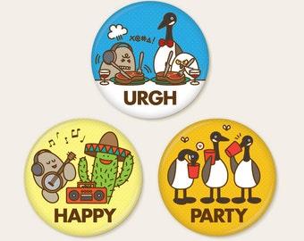 "Eggman Comics 2.25"" Buttons"