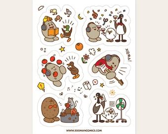 Eggman Comics Sticker Sheet