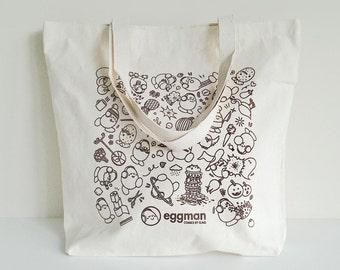 Eggman Comics 12oz Canvas Tote