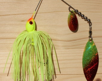 Son of a Bass The Bloody Treuse Spinnerbait Fishing Lure