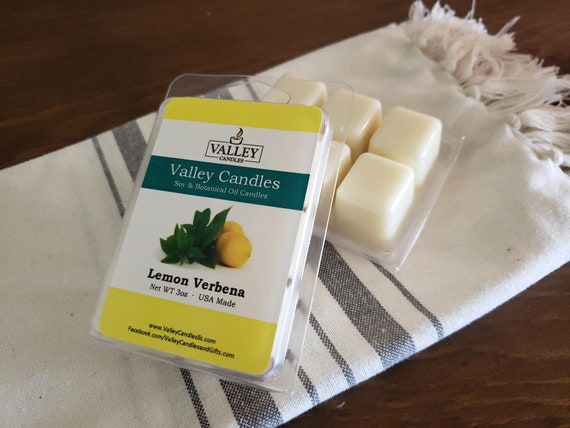 Lemon Verbena Wax Melt, Soy & Botanical Oil Candles