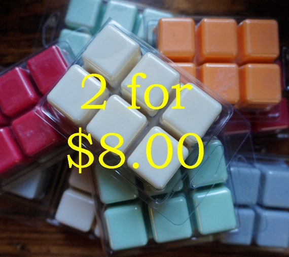 2 for 8 Wax Melts, Soy Wax & Botanical Oil Candles