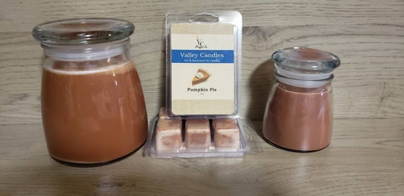 SALE Pumpkin Pie***SMALL JAR***, 25-hour, Soy Candle, reg 9.99