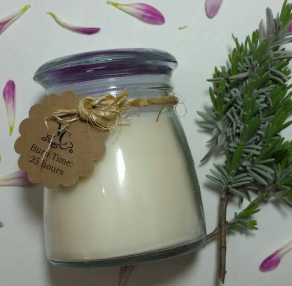 Lavender Bliss 4oz, 25-hour, Soy & Botanical Oil Candles **3.00 SHIPPING**