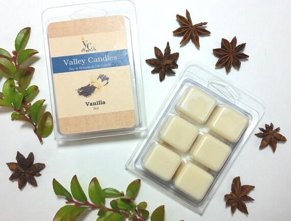 Vanilla Wax Melt, Soy & Botanical Oil Candles