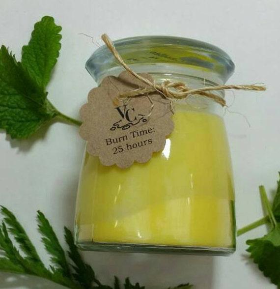 Lemon Verbena 4oz, 25-hour, Soy & Botanical Oil Candles