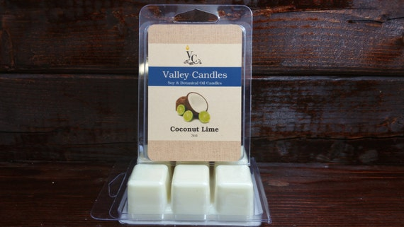 Coconut Lime Soy Wax Melt, Valley Candles Soy & Botanical Oil Candles