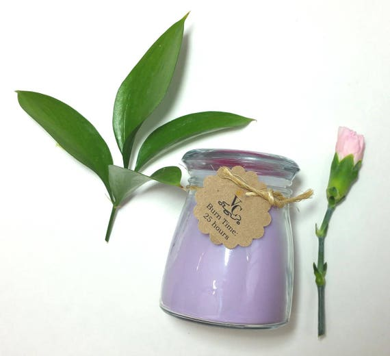 Lilac 4oz, 25-hour, Soy & Botanical Oil Candles **3.00 SHIPPING**