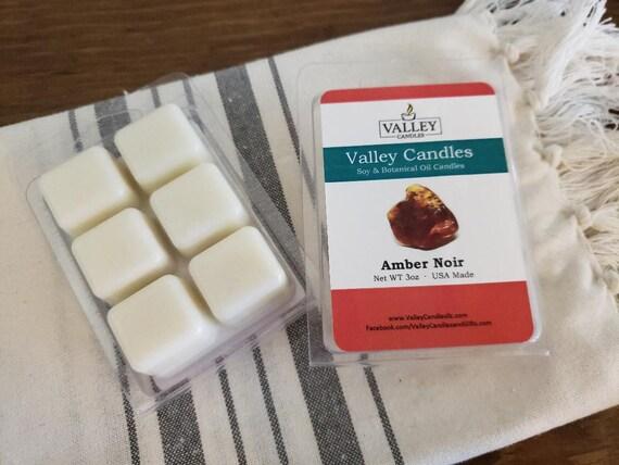 Amber Noir Wax Melt, Soy & Botanical Oil Candles