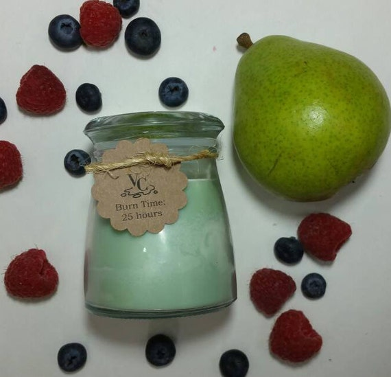 Pearberry 4oz, 25-hour, Soy & Botanical Oil Candles**3.00 SHIPPING**