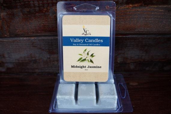 Midnight Jasmine Wax Melt, Soy & Botanical Oil Candles