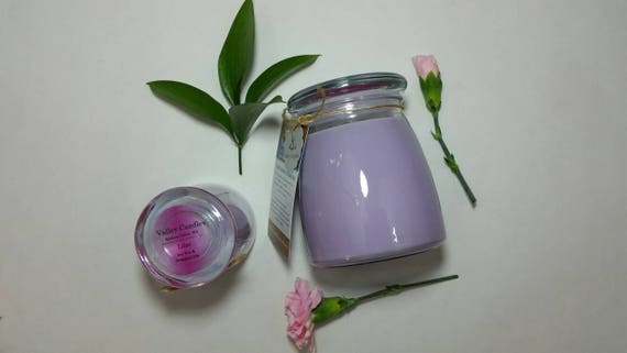 Lilac 14oz, 70-hour, Soy & Botanical Oil Candles **4.00 SHIPPING**