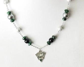 Silver Philadelphia Eagles Pennant Necklace