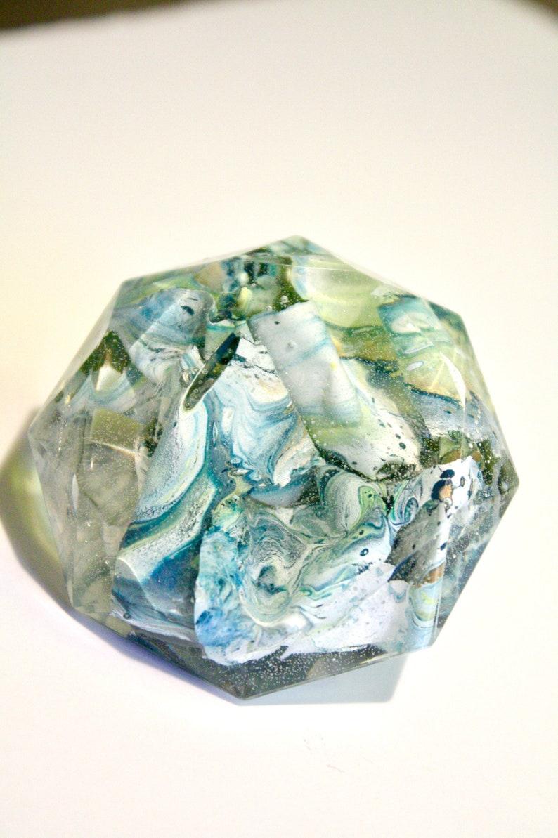 Resin Art Tray Decor Staging Art Diamond Paperweight image 0