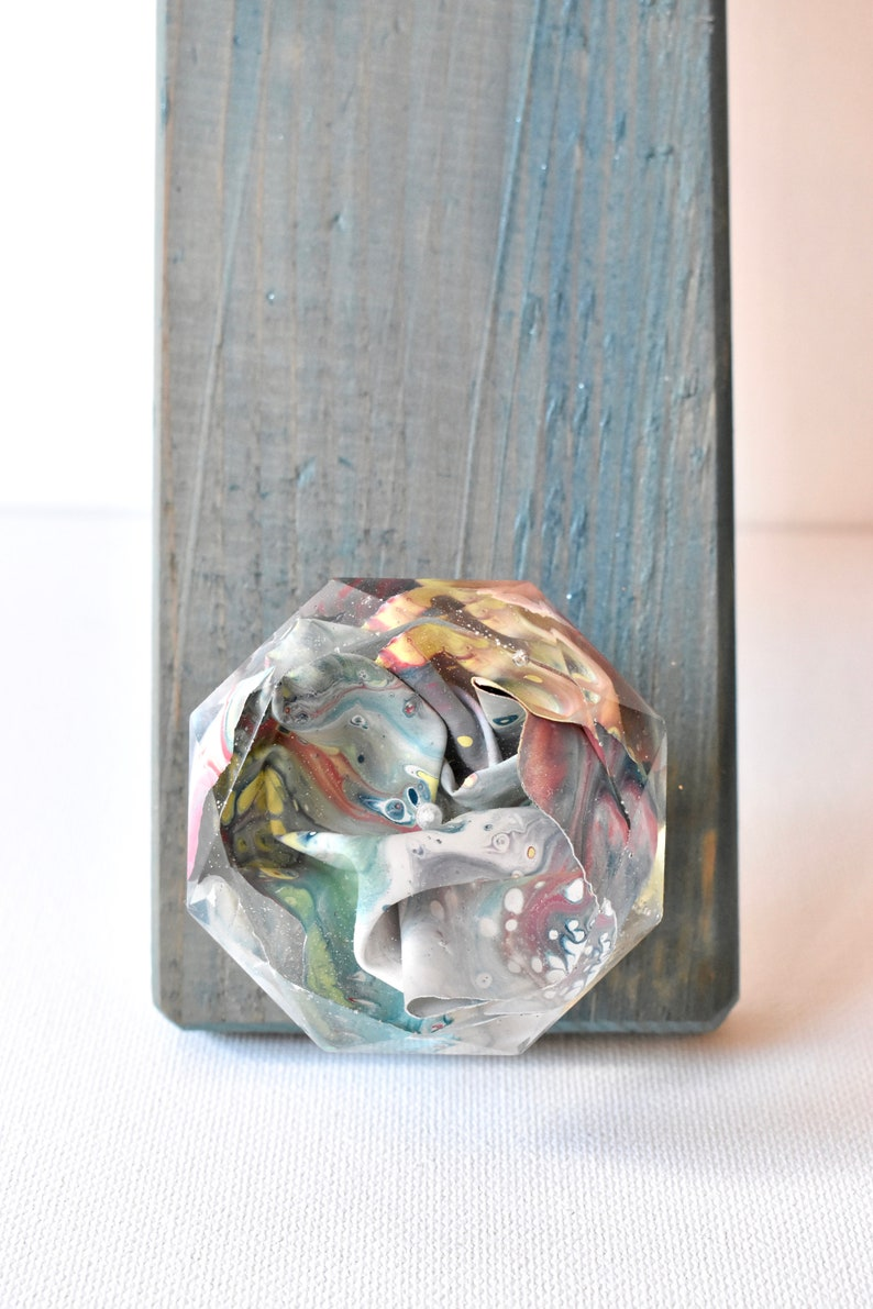 Abstract Drawer Pull Diamond Drawer Pull Colorful Drawer image 0