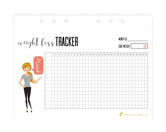 weight loss journal printable