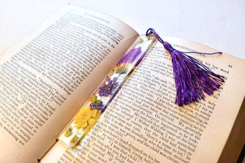 Wedding Flower Preservation Resin Art Bride Bookmark image 0