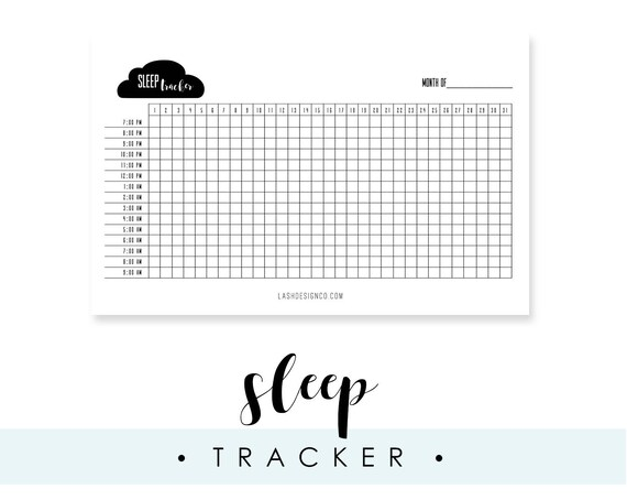 Striking image with sleep tracker printable