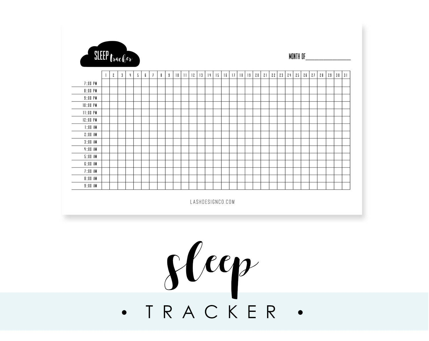 This is a graphic of Hilaire Sleep Tracker Printable