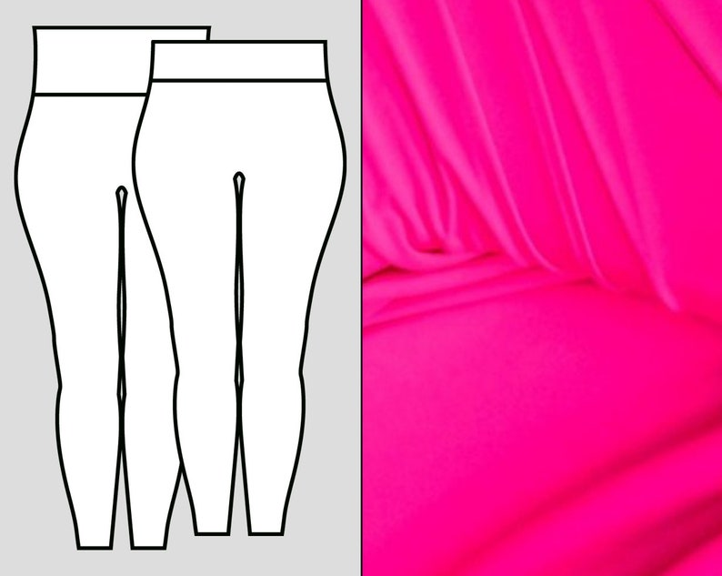 Neon Pink Leggings image 0