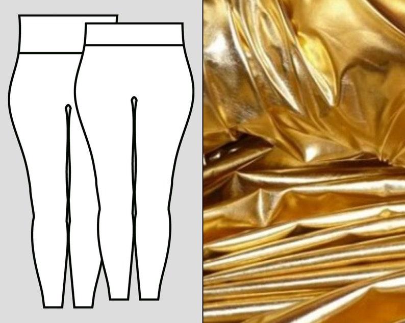 Gold Metallic Leggings image 0