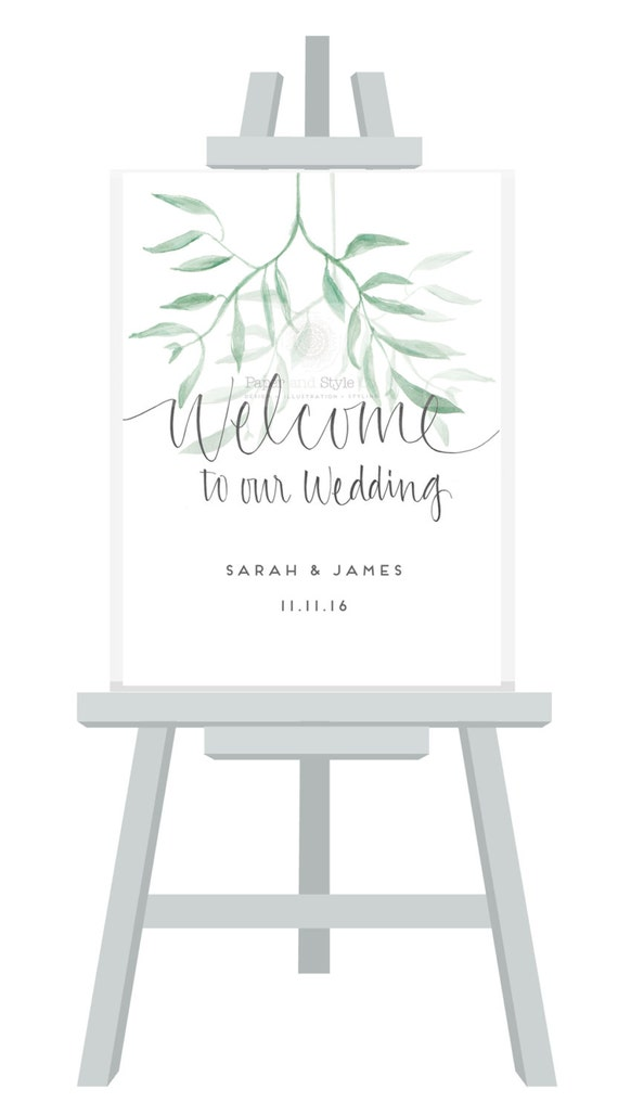 welcome to our wedding signage a3 a2 a1 sizes gumleaf. Black Bedroom Furniture Sets. Home Design Ideas