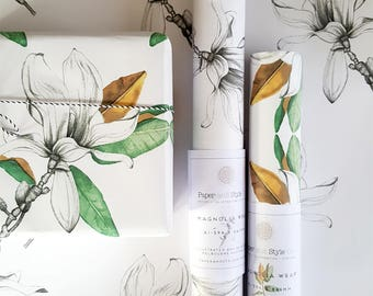 MAGNOLIA/GIFT WRAP/Wrapping Paper/Hand Drawn/Botanical Art