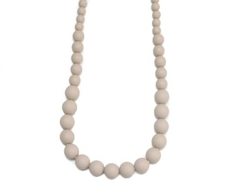 "Mommy & me ""Taupe"" teething necklace"