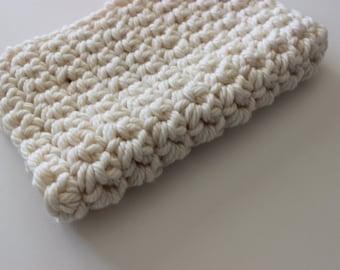 Cream Chunky Mini Blanket