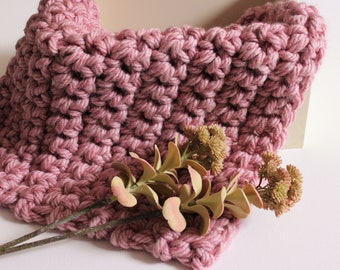 Dusty Rose Pink Mini Chunky Blanket