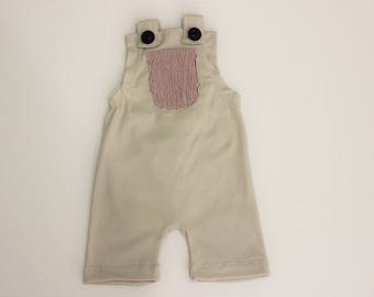 Vinnie Taupe Overalls