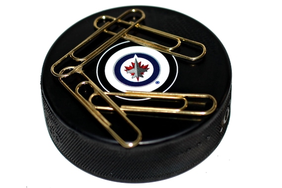 Winnipeg Jets Throwback Logo Auto Series Hockey Puck Magnetic Etsy