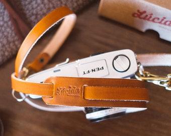 Classic leather collar strap - Leather Camera Straps