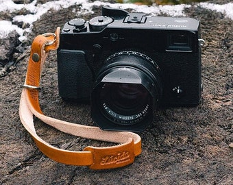 Classic hand strap made of leather - Leather Camera Wrist Strap