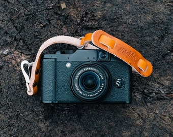 Adjustable Small Hand Strap Made of Leather - Leather Camera Wrist Strap