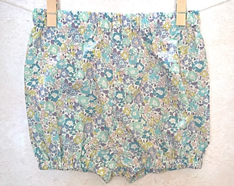 Liberty Bloomers - Girls Diaper Covers - Floral Pants - Baby Bloomers Girl - Liberty Tana Lawn Cotton Michelle Purple and Blue