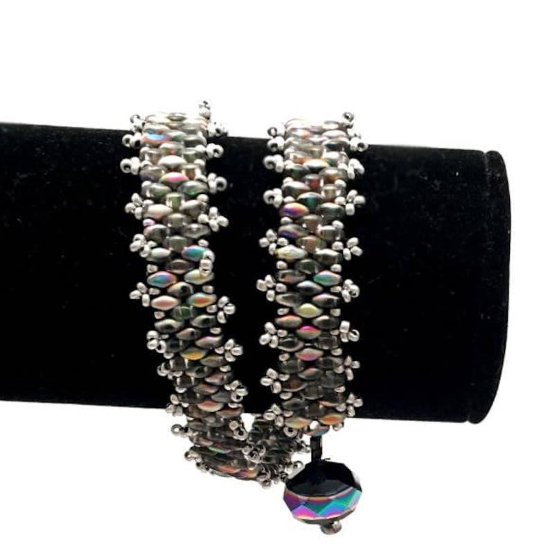 Bracelet Handmade Super Duo Crystal Vitrail Bracelet Unique image 0