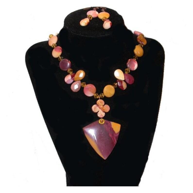 Hand Made Show stopper Celebrity Necklace  Original designer image 0
